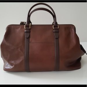 Fossil Leather Duffle Weekender Overnight NWT $398